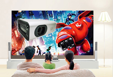 """<div style=""""text-align:center;""""> <strong><span style=""""font-size:12px;"""">家用微型投影仪</span></strong>  </div> <div style=""""text-align:center;""""> Miniature intelligent projector </div>"""